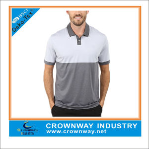 Velocity Jacquared Dry-Fit Short Sleeve Mens Polo Shirts for Golf pictures & photos