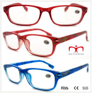 Plastic Reading Glasses with Colorful Banding Pattern (WRP508336) pictures & photos