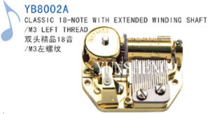 18-Note Classic Movement with Extended Winding Shaft/M3 Left Thread (YB8002A) D pictures & photos