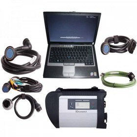 MB SD Connect Compact 4 Star Diagnosis with DELL D630 Laptop 4GB Memory Support Offline Programming
