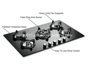 Full Black Tempered Glass Gas Cooker
