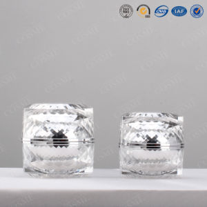 Luxury Clear Cosmetic Acrylic Packing Jar pictures & photos