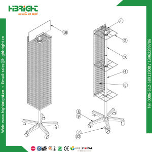 Folding Retail Store Floor Rotating Standing Display Racks pictures & photos
