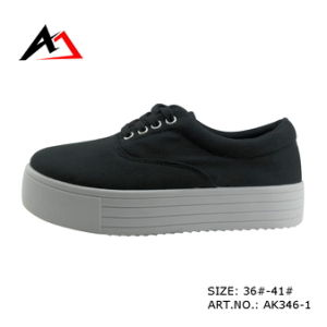 Injection Shoes Comfortable Platform Canvas Casual Boots for Women (AK346) pictures & photos