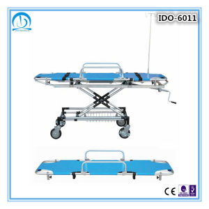Ido-6002 Stainless Steel Hospital Patient Stretcher Trolley pictures & photos
