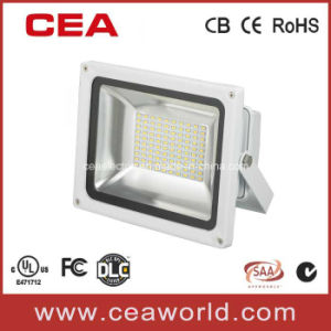 White Color Body SMD LED Flood Light UL 50W pictures & photos