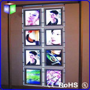 Double Sided Hanging LED Crystal Light Box pictures & photos