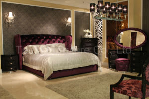 European Modern Bedroom Furniture Solid Wood Bed pictures & photos