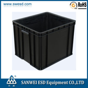 ESD Plastic Black Container 3W-9805328 pictures & photos