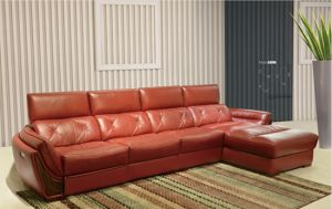 China Top Grain Living Room Leather Sofa A8096 pictures & photos