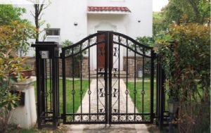 Elegant and Pastoralism Wrought Iron Gate for Your Yard pictures & photos