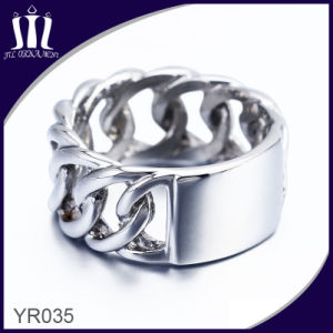 New Style Men′s Stainless Steel Chain Ring pictures & photos