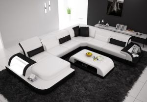 Waves Sofa Sectional Leather Sofa pictures & photos