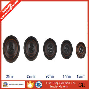 2016 Tailian Classic Brown 4 Holes Resin Buttons Imitation Horn Button for Coat pictures & photos