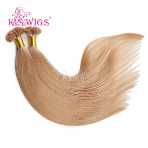 Double Drawn Brazilian Hair Flat Tip Keratin Hair Extension pictures & photos