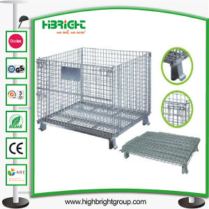 Wire Cage Container for Storage in Supermarket pictures & photos