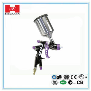Hot Sale HVLP Spray Gun with Plastic Gravity Cup pictures & photos