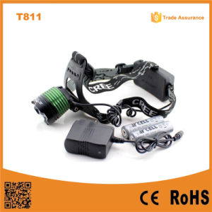 T811 New Camping&Hiking 10W T6 LED Zoom Headlamp pictures & photos