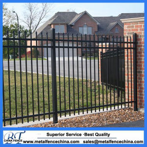 Factory Supplier Cheap Powder Coated Wrought Iron Fence Panel pictures & photos