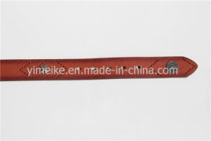 Low Price Factory Skinny Wholesale Casual Man PU Leather Belt pictures & photos