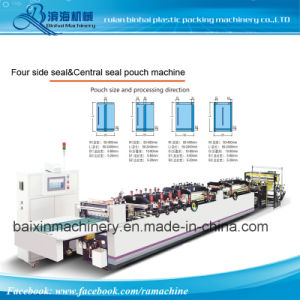Middle Sealing Side Sealing Four Side Sealing Stand Bag Making Machine pictures & photos