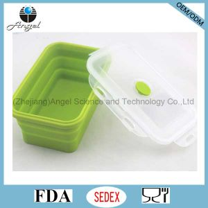 Hot Sale Indian Silicone Tiffin Lunch Box Silicone Food Storage Sfb10 (1200ML) pictures & photos