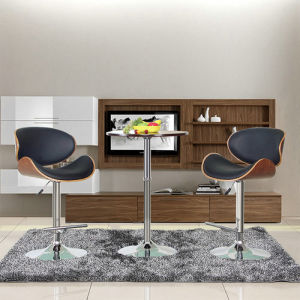 Modern Restaurant Dining Furniture Swivel Wooden Bar Chair (FS-WB1076) pictures & photos
