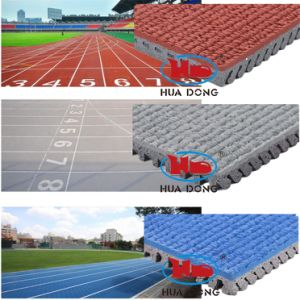 Synthetic Outdoor Athletic Track Material Rubber Flooring pictures & photos