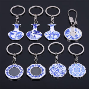 New Product Blue and White Porcelain Keychain for Gifts pictures & photos