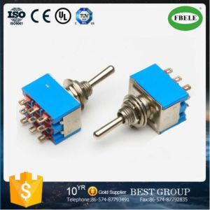 Miniature Toggle Switch, Mini on-on 3PDT 9p Toggle Switch pictures & photos