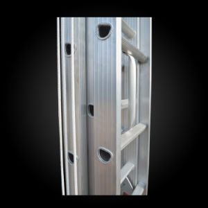 3 Section Aluminum Telescopic Ladder for Fire Escape pictures & photos