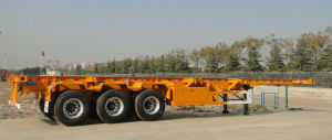 3 Axles Skeletal Container Semi Trailer 40FT