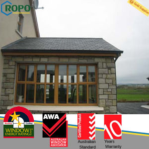 Wood Color UPVC/PVC Frame Sliding Windows with Best Price Ropo13690 pictures & photos