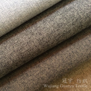 Home Decorative Compound Linen Like Polyester Sofa Fabric pictures & photos