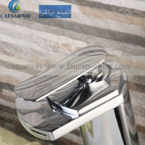 Cascada Grifo Del Lavabo High Basin Waterfall Mixer&Faucet Nickel Brushed pictures & photos