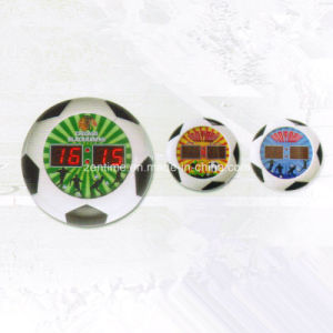 Creative Electric Football Pattern Frame LED Digital Wall Time Clock pictures & photos