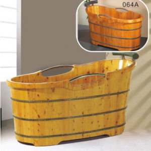 Bathroom Furniture Webbing Soaking Wooden Hot Tub (NJ-004A) pictures & photos