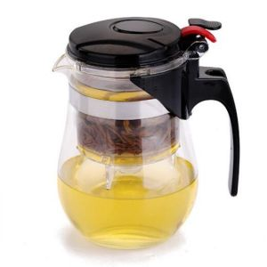 Glass Tea Kettle Jug Brosilicate Glass Tea Pot with Infuser pictures & photos