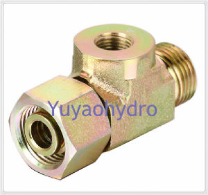 Hydraulic Fittings Jic Tee Deg Flared Tube Adapters pictures & photos