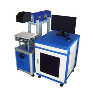 CO2 Leather Jeans Fiber Laser Marking Machine for Wood pictures & photos