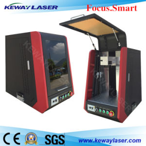 Automatic Fiber Laser Marking Cutting Machine with Enclosure pictures & photos