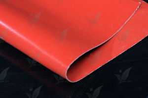 Red Colour Silicon Coated Fiberglass Fabric Silicon Coated (Double Sides) pictures & photos