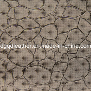 Fashion Stone Pattern Decoration Furniture Leather (QDL-51383) pictures & photos