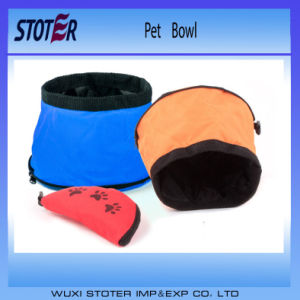 Portable Waterproof Travel Dog Bowl with Zipper pictures & photos