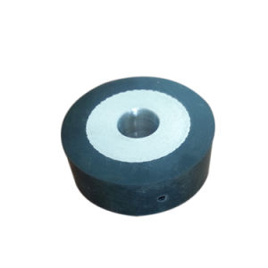 Metal Center Double Screw End Rubber Roller Wheel / Replacement Rubber Wheel for Luggage pictures & photos