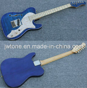 Flamed Maple Top F Hole Quality Tele Guitar pictures & photos
