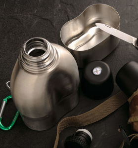 304 Stainless Steel Double Wall Vacuum Military Canteen Svt-750 pictures & photos