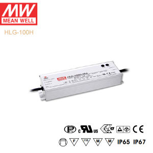 Original Meanwell Hlg-100h Series Single Output Waterproof IP67 LED Driver pictures & photos