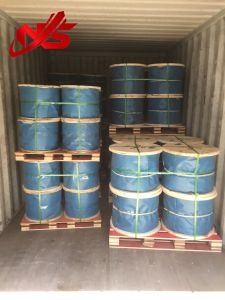 Ungalvanized Steel Wire Rope 6X37+FC/Iws/Iwrc One Red Colour Strand pictures & photos