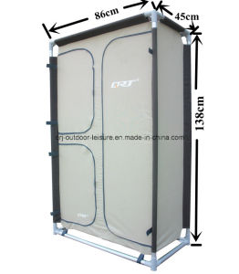 Foldable Clothes Wardrobe Closets Double Door Fabric Storage Organizer 5 Shelves pictures & photos